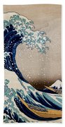 Under The Great Wave Off Kanagawa Bath Towel