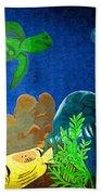 Under The Sea Mural 2 Bath Towel