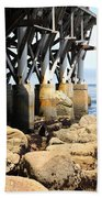 Under The Steinbeck Plaza Overlooking Monterey Bay On Monterey Cannery Row California 5d25050 Bath Towel