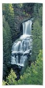 109008-undine Falls In Yellowstone Bath Towel