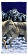 Wolves - Unfamiliar Territory Hand Towel by Crista Forest