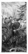 Union Charge At The Battle Of Gettysburg Hand Towel