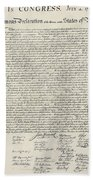 United States Bill Of Rights Bath Towel