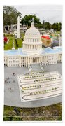 United States Capital Building At Legoland Hand Towel