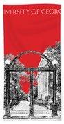 University Of Georgia - Georgia Arch - Red Bath Towel