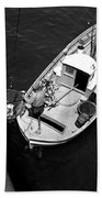 Unloading Fish At Wharf Two Monterey  Circa 1950  Bath Towel