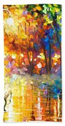 Unresolved Feelings - Palette Knife Oil Painting On Canvas By Leonid Afremov Bath Towel
