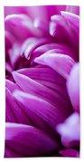 Up-close Flower Power Pink Mum  Bath Towel