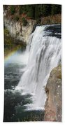 Upper Mesa Falls Idaho Bath Towel