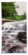 Upper Swallow Falls Close Up Bath Towel