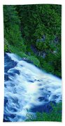 Upper View Of Narada Falls Bath Towel