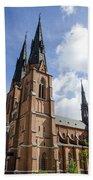 Uppsala Cathedral - Sweden Bath Towel