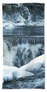 Upstream At Bond Falls Bath Towel