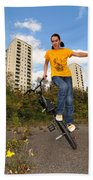 Urban Bmx Flatland With Monika Hinz Bath Towel