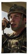 U.s. Air Force Soldier Communicates Bath Towel