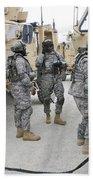 U.s. Army Soldiers Jump Start A Light Bath Towel