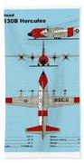 Coast Guard Hc-130 B Hercules Bath Towel