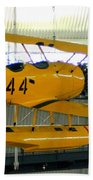 U.s. Navy Yellow Peril Float Biplane Bath Towel