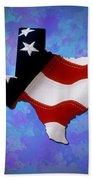 Usa Flagtexas State Digital Artwork Bath Towel