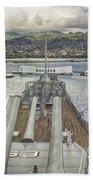 Uss Arizona Memorial-pearl Harbor V4 Bath Towel