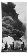 Uss Bunker Hill Kamikaze Attack  Hand Towel