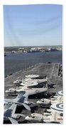 Uss Enterprise Arrives At Naval Station Bath Towel