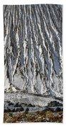 Utah Copper Mine Tailings Pile In Winter Bath Towel
