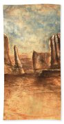 Utah Red Rocks - Landscape Art Bath Towel