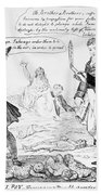 Vaccination Cartoon, 1808 Bath Towel