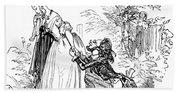 Valentines Day, 1855 Hand Towel