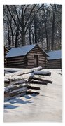 Valley Forge Cabins After A Snow Bath Towel