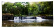 Valley Forge Pa - Valley Creek Waterfall  Bath Towel