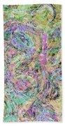 Van Gogh Style Abstract I Bath Towel