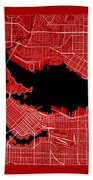 Vancouver Street Map - Vancouver Canada Road Map Art On Color Bath Towel