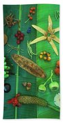 Variety Of Seeds And Fruits Bath Towel