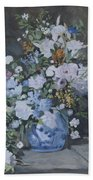 Vase Of Flowers - Reproduction Bath Towel
