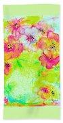 Vase Of Spring Flowers Bath Towel