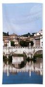 Vatican City Seen From Tiber River Bath Towel