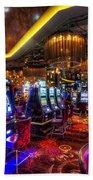Vegas Slot Machines Bath Towel
