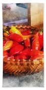 Vegetables - Hot Peppers In Farmers Market Bath Towel