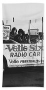 Velie Six Radio Car Bath Towel