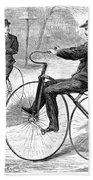Velocipedes, 1868 Bath Towel