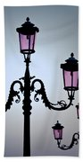 Venetian Lamps Hand Towel by Dave Bowman