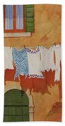 Venetian Washday Bath Towel