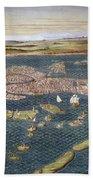 Venice: Map, 16th Century Bath Towel