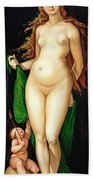 Venus And Amor Bath Towel