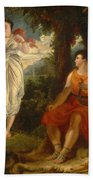 Venus And Anchises Bath Towel
