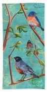 Verdigris Songbirds 1 Bath Towel