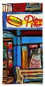 Verdun Restaurants Pierrette Patates Pizza Poutine Pepsi Cola Corner Cafe Depanneur - Montreal Scene Bath Towel