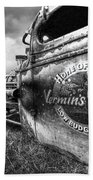 Vermin's Diner Rat Rod In Black And White Bath Towel